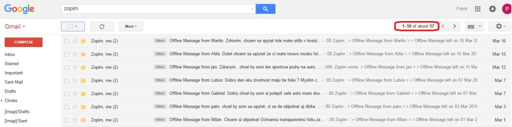 zopim live chat online offline zanechane spravy od navstevnikov taishifolie eshopovac Patrik Popelic