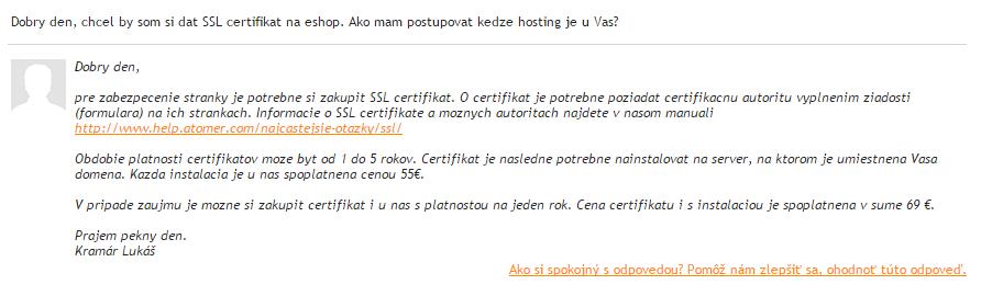 Atomer eshop - SSL certifikaty možnosti - članok Eshopovac.sk
